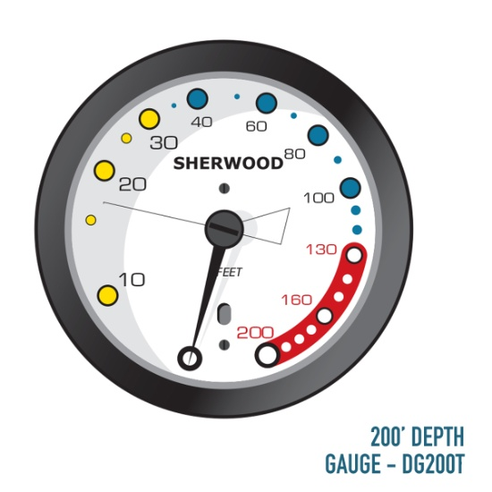 200ft. Depth Gauge - DG200T